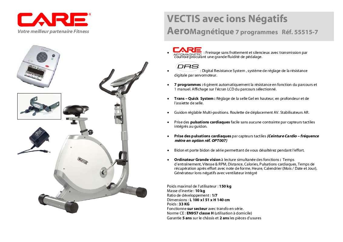 Notice D Utilisation Care Fitness Vectis 55515 7 Care Fitness Manuel Et Mode D Emploi