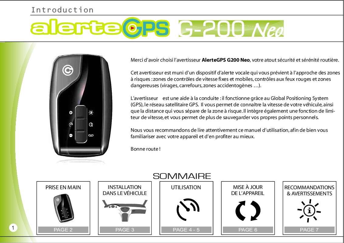 JOUR A GPS G220 MISE TÉLÉCHARGER ALERTE