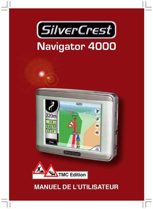 Guide utilisation  SILVERCREST GPS NAVIGATOR 4000  de la marque SILVERCREST