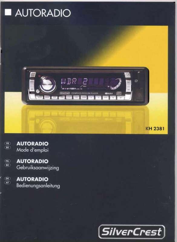 Guide utilisation  SILVERCREST KH 2381  de la marque SILVERCREST