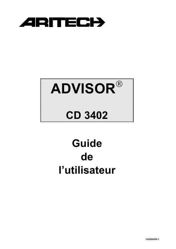 Guide utilisation  ARITECH CD 3402  de la marque ARITECH