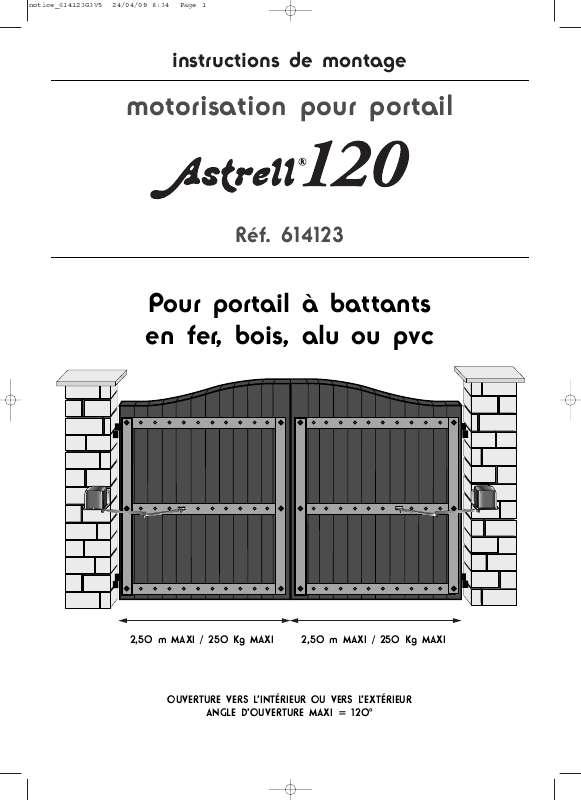 Guide utilisation  AVIDSEN ASTRELL 120  de la marque AVIDSEN