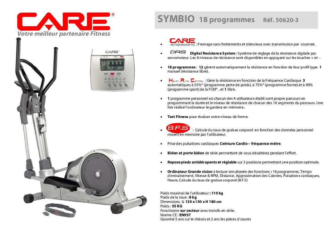 Notice D Utilisation Care Fitness Symbio 50620 3 Care Fitness Manuel Et Mode D Emploi