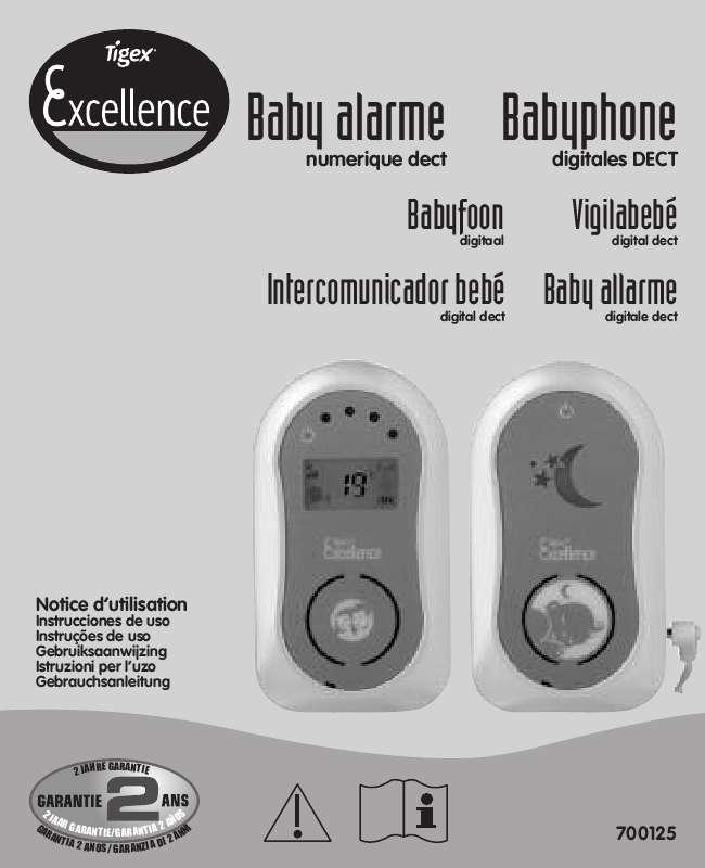 Guide utilisation  TIGEX BABYPHONE-EXCELLENCE  de la marque TIGEX