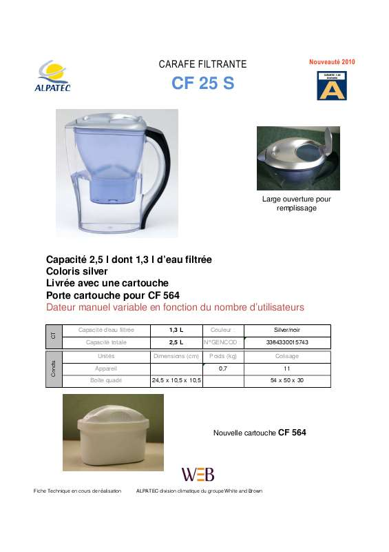 Guide utilisation ALPATEC CF 25 S  de la marque ALPATEC
