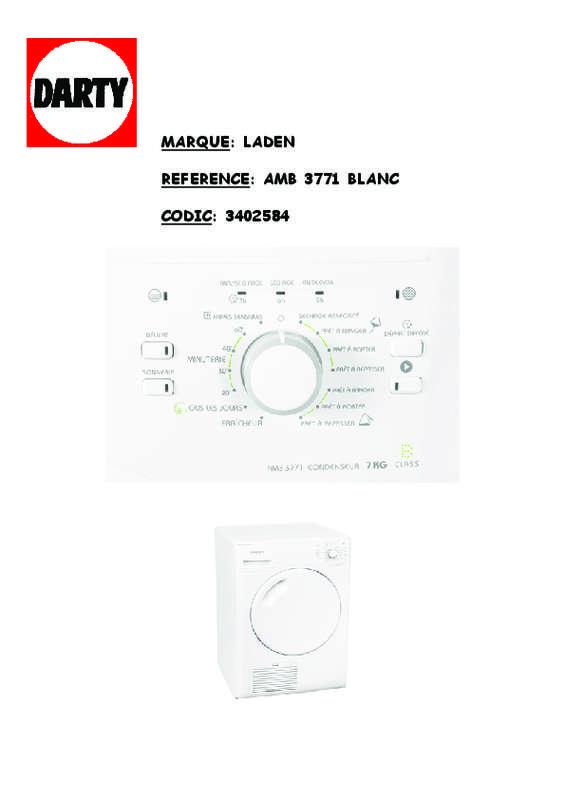 Guide utilisation LADEN AMB3771 de la marque LADEN