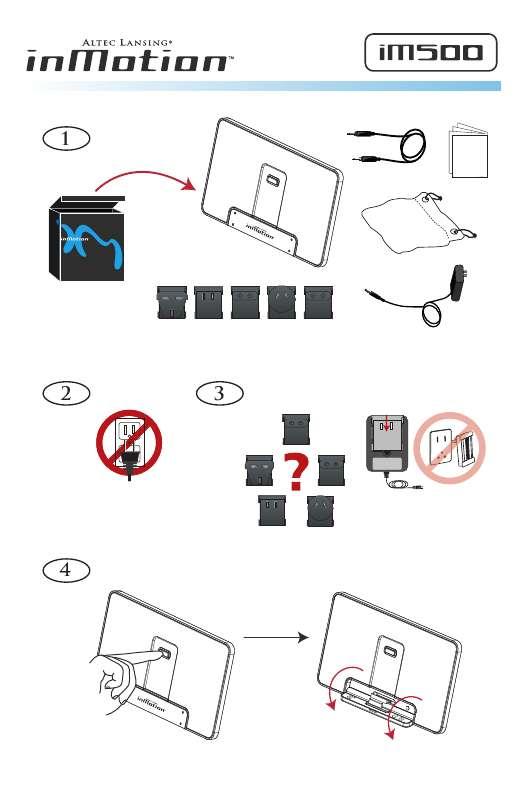 Guide utilisation ALTEC LANSING IM500  de la marque ALTEC LANSING