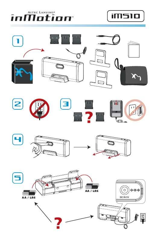 Guide utilisation  ALTEC LANSING IM510  de la marque ALTEC LANSING
