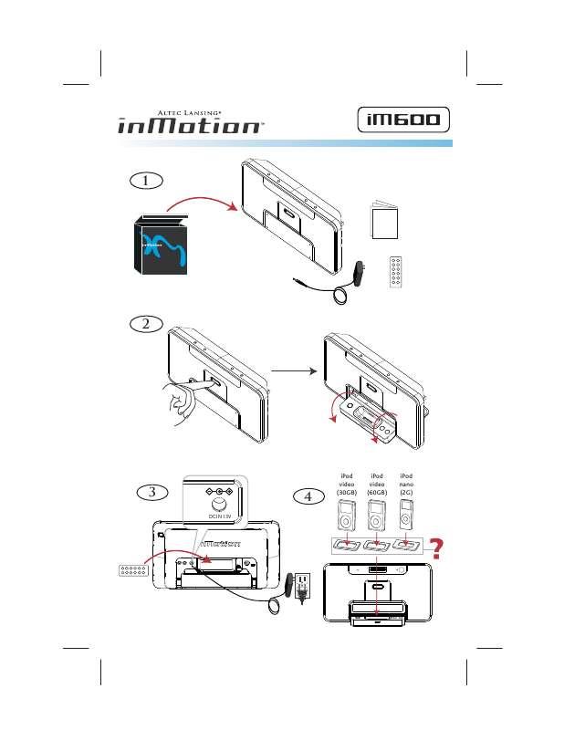 Guide utilisation ALTEC LANSING IM600  de la marque ALTEC LANSING