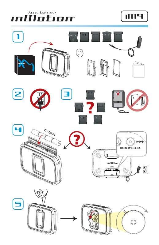 Guide utilisation  ALTEC LANSING IM9  de la marque ALTEC LANSING