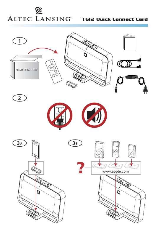 Guide utilisation ALTEC LANSING T612  de la marque ALTEC LANSING