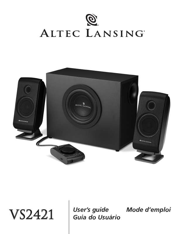 Guide utilisation  ALTEC LANSING VS2421  de la marque ALTEC LANSING