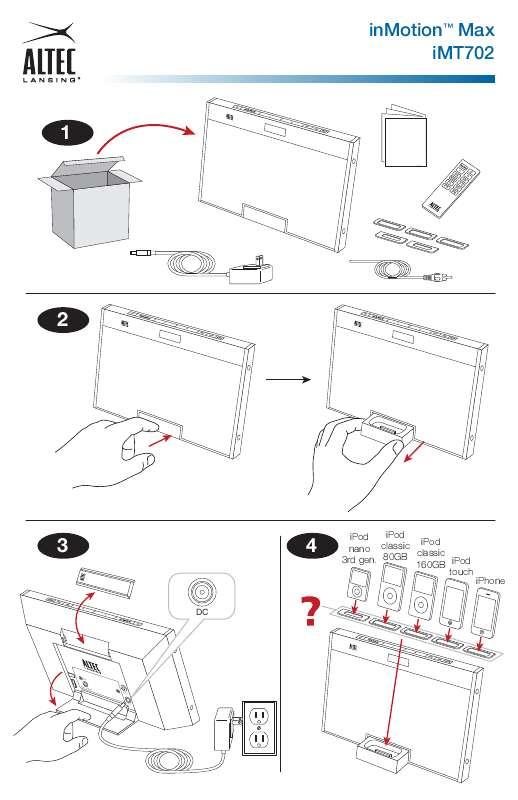 Guide utilisation  ALTEC LANSING INMOTION MAX  de la marque ALTEC LANSING