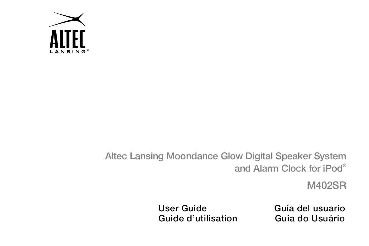 Guide utilisation  ALTEC LANSING M402SR  de la marque ALTEC LANSING