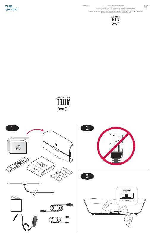 Guide utilisation ALTEC LANSING M812  de la marque ALTEC LANSING