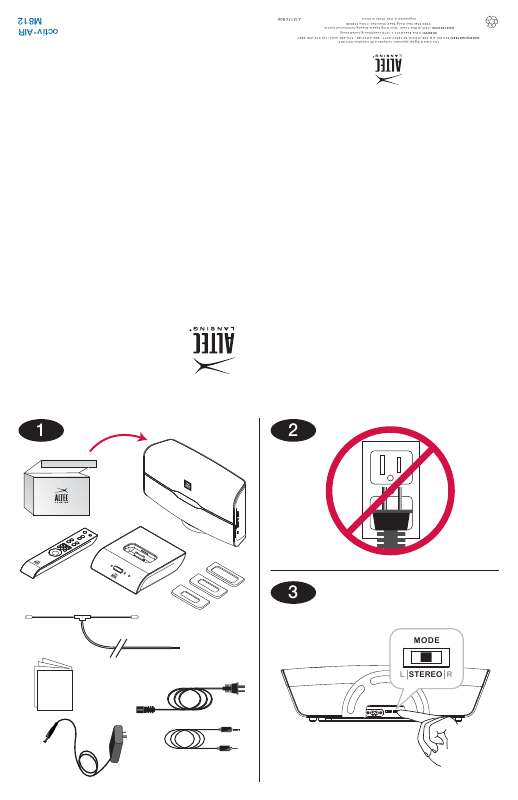 Guide utilisation ALTEC LANSING OCTIV AIR M812  de la marque ALTEC LANSING
