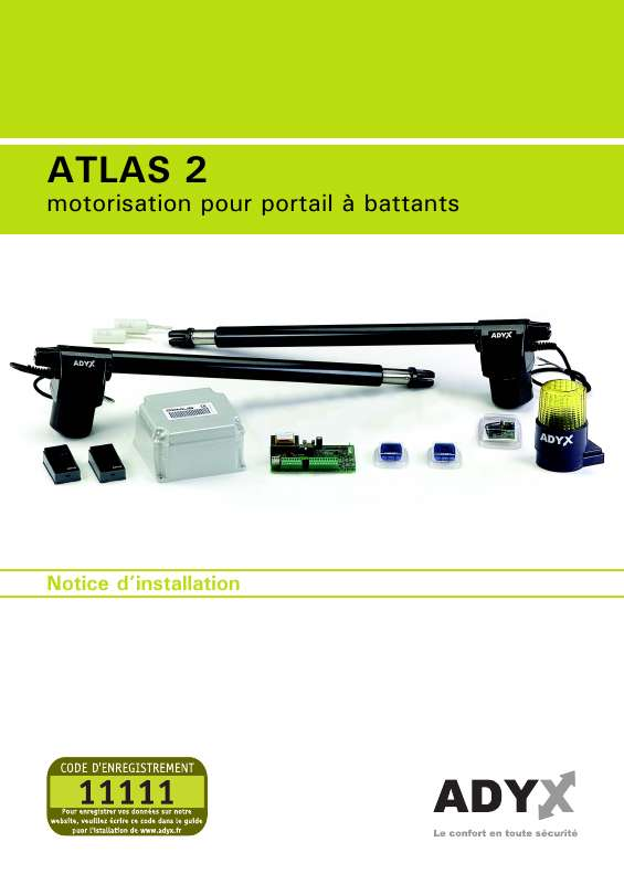 Guide utilisation  ADYX ATLAS 2  de la marque ADYX