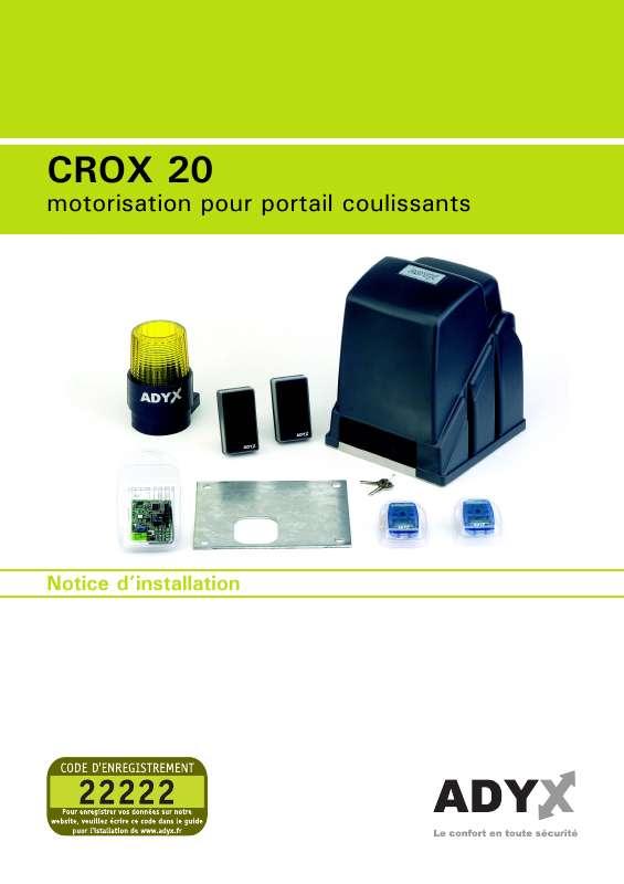 Guide utilisation  ADYX CROX 20  de la marque ADYX