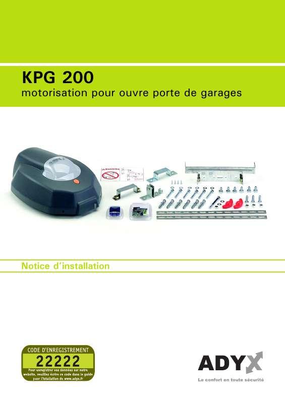 Guide utilisation  ADYX KPG 200  de la marque ADYX