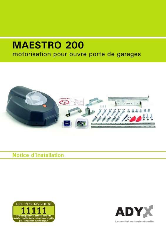 Guide utilisation  ADYX MAESTR 200  de la marque ADYX