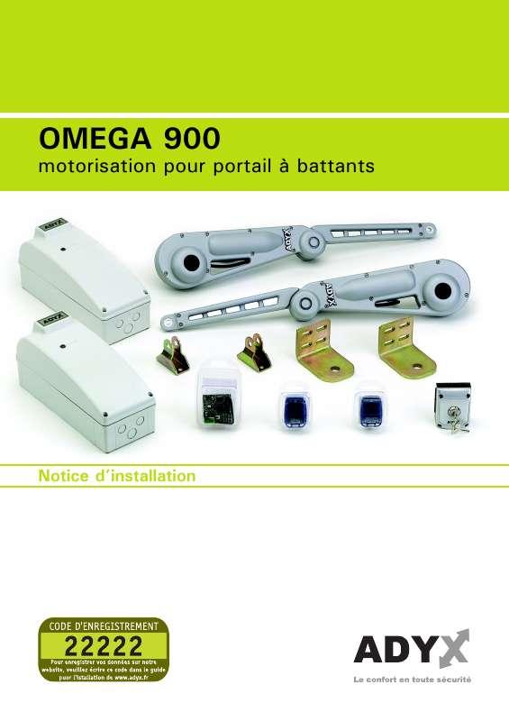 Guide utilisation  ADYX OMEGA 900  de la marque ADYX