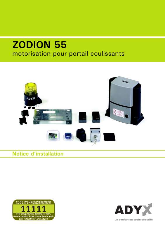 Guide utilisation  ADYX ZODION 55  de la marque ADYX