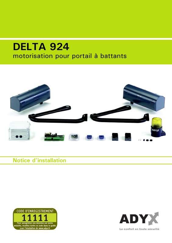 Guide utilisation  ADYX DELTA 929  de la marque ADYX