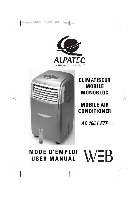Guide utilisation ALPATEC AC 105.1 ETP  de la marque ALPATEC