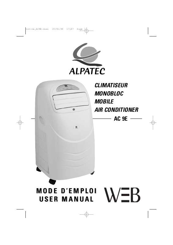 Guide utilisation ALPATEC AC 9 E  de la marque ALPATEC