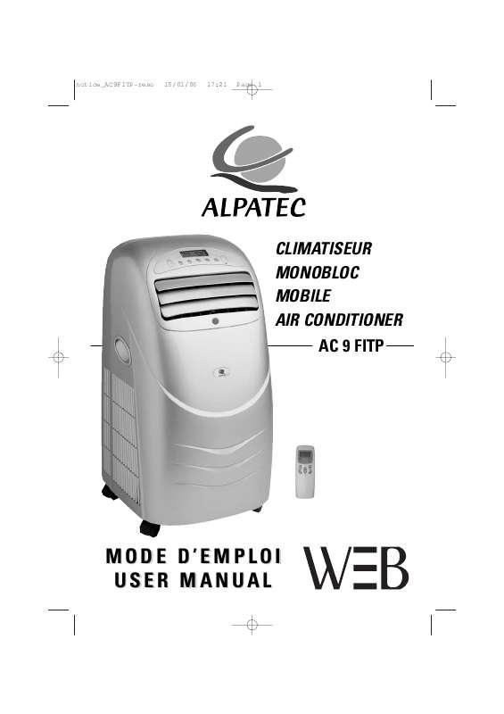 Guide utilisation ALPATEC AC 9 FITP  de la marque ALPATEC