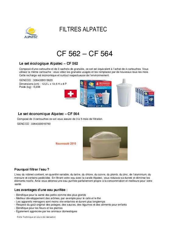 Guide utilisation ALPATEC CF 562  de la marque ALPATEC