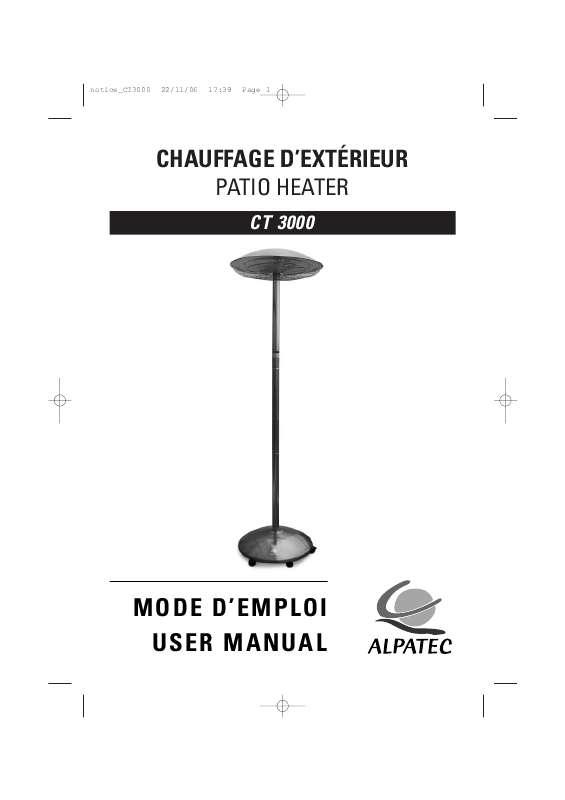 Guide utilisation ALPATEC CT 3000  de la marque ALPATEC