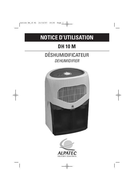 Guide utilisation ALPATEC DH 10 M  de la marque ALPATEC