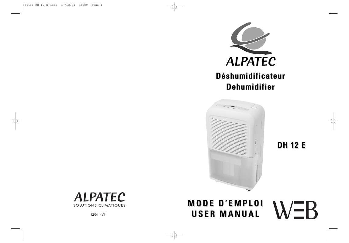 Guide utilisation ALPATEC DH 12 E  de la marque ALPATEC