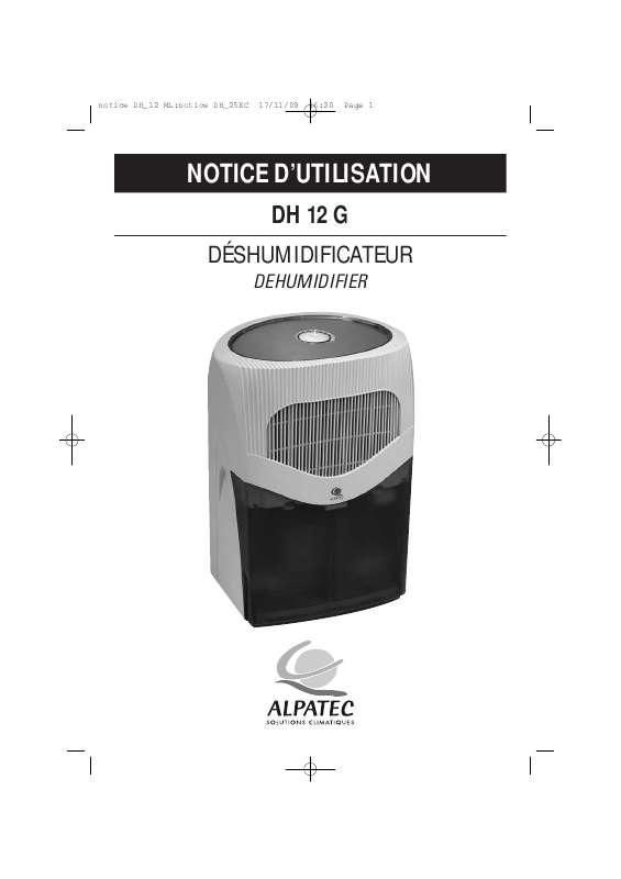 Guide utilisation ALPATEC DH 12 G  de la marque ALPATEC