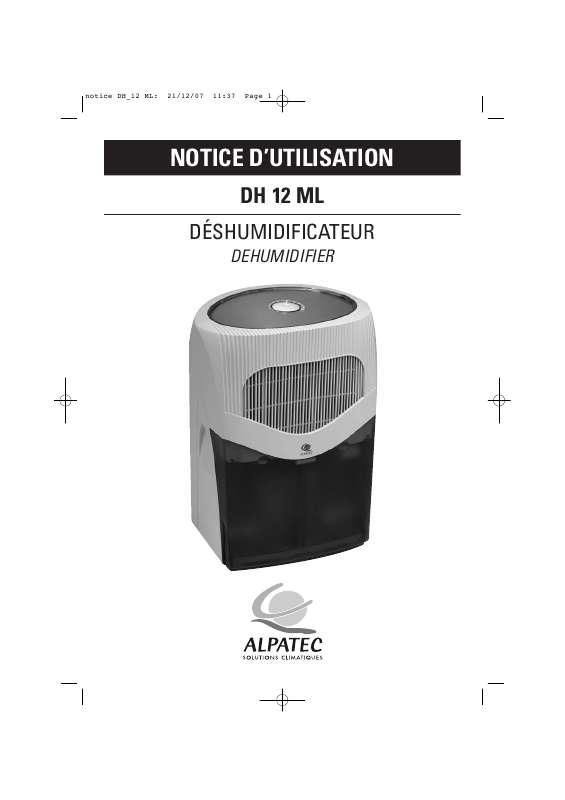 Guide utilisation ALPATEC DH 12 ML  de la marque ALPATEC