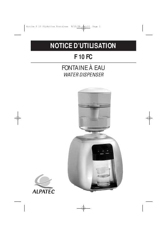 Guide utilisation ALPATEC F 10 FC  de la marque ALPATEC