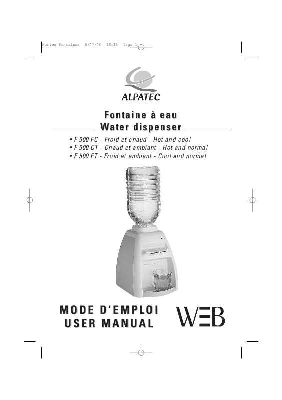 Guide utilisation ALPATEC F 500 FC  de la marque ALPATEC