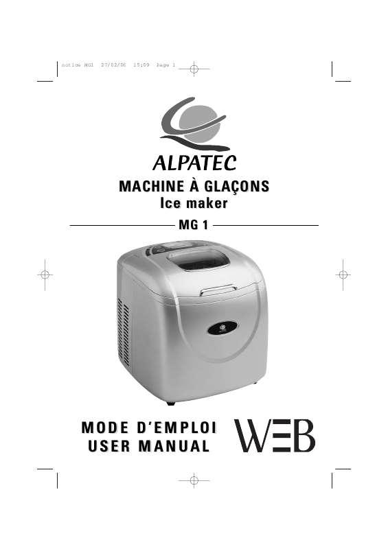 Guide utilisation ALPATEC MG 1  de la marque ALPATEC