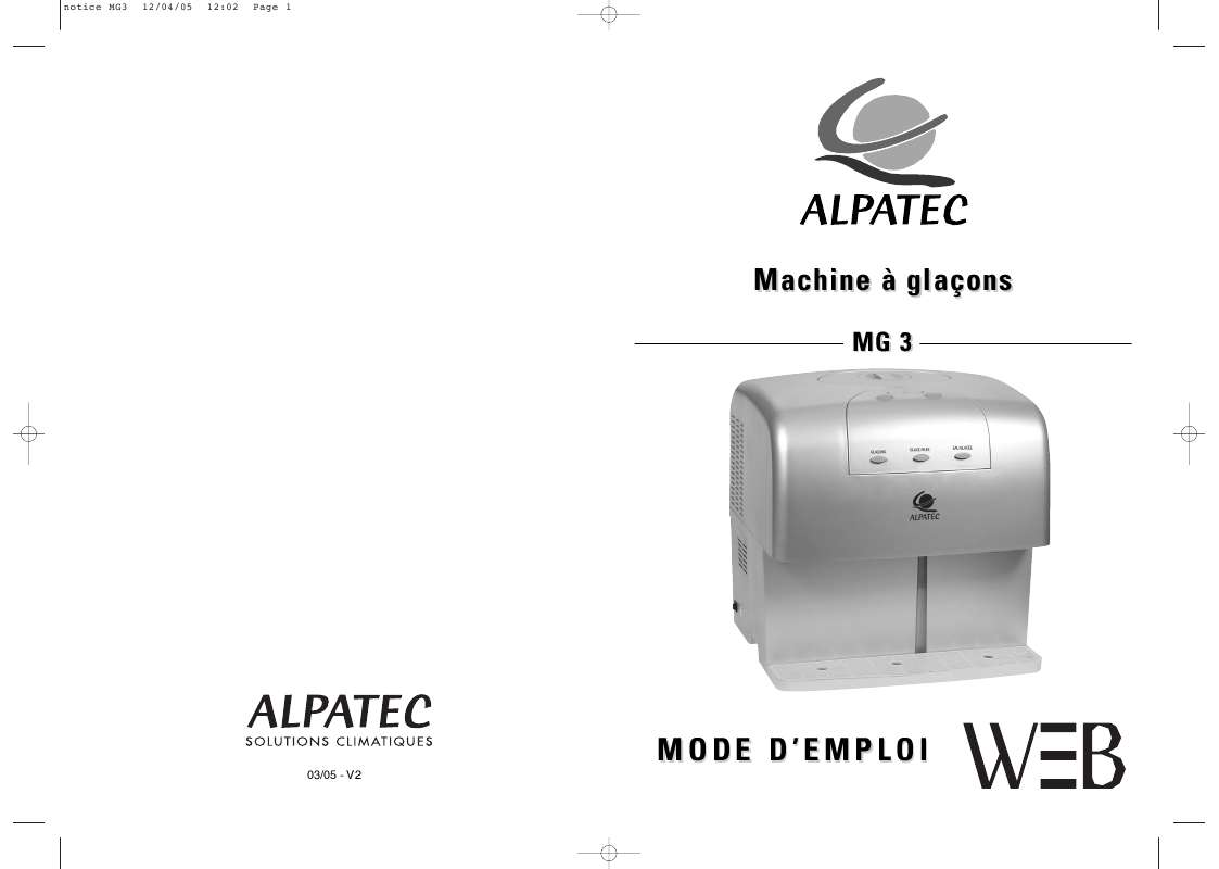 Guide utilisation ALPATEC MG 3  de la marque ALPATEC