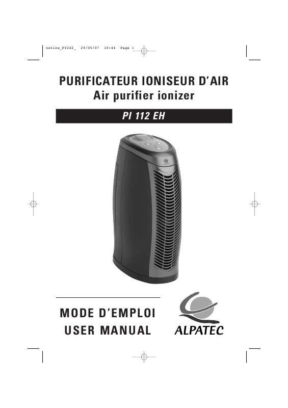 Guide utilisation ALPATEC PI 112 EH  de la marque ALPATEC