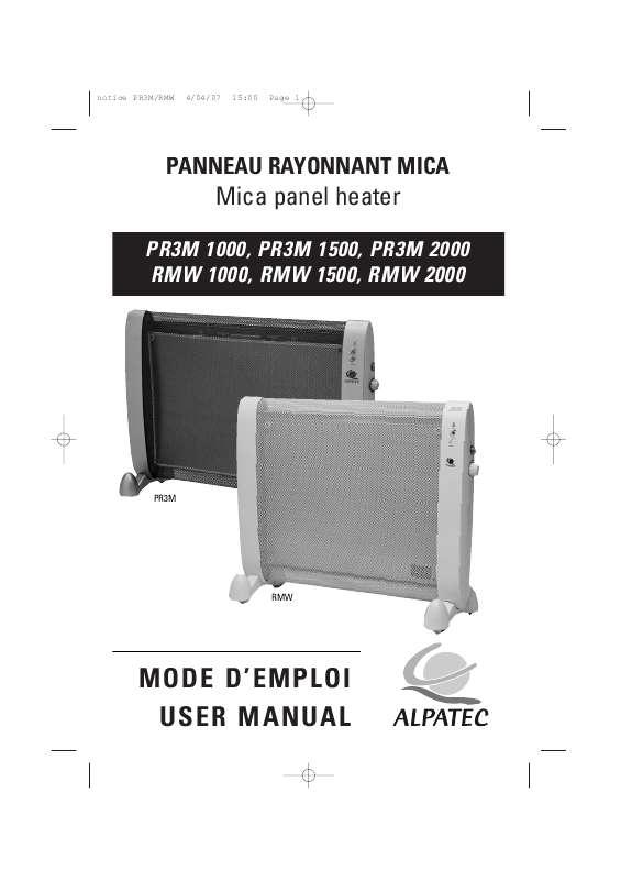 Guide utilisation ALPATEC PR3M  de la marque ALPATEC