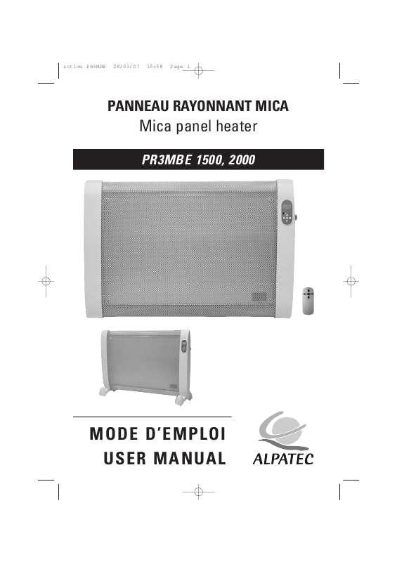 Guide utilisation ALPATEC PR3MBE  de la marque ALPATEC