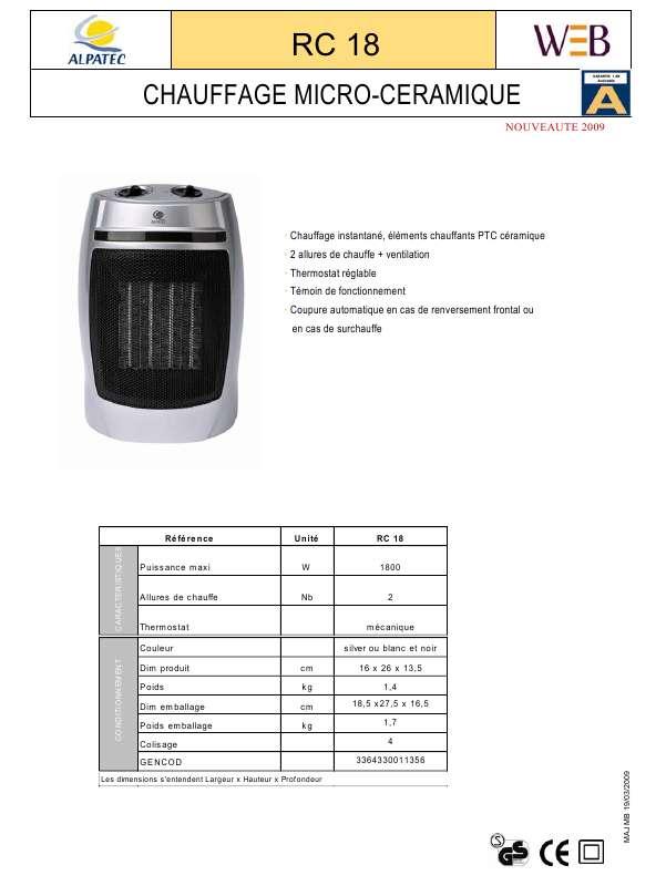 Guide utilisation ALPATEC RC 18  de la marque ALPATEC