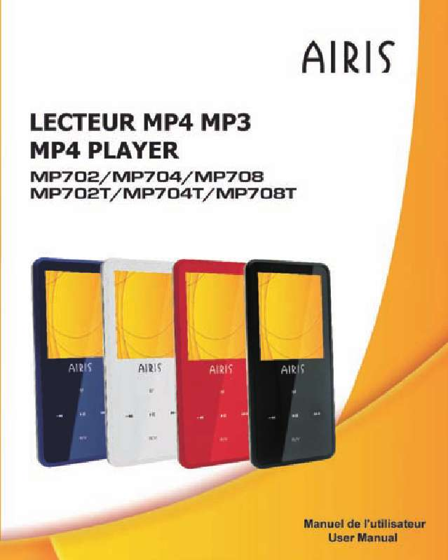 Guide utilisation  AIRIS MP704  de la marque AIRIS