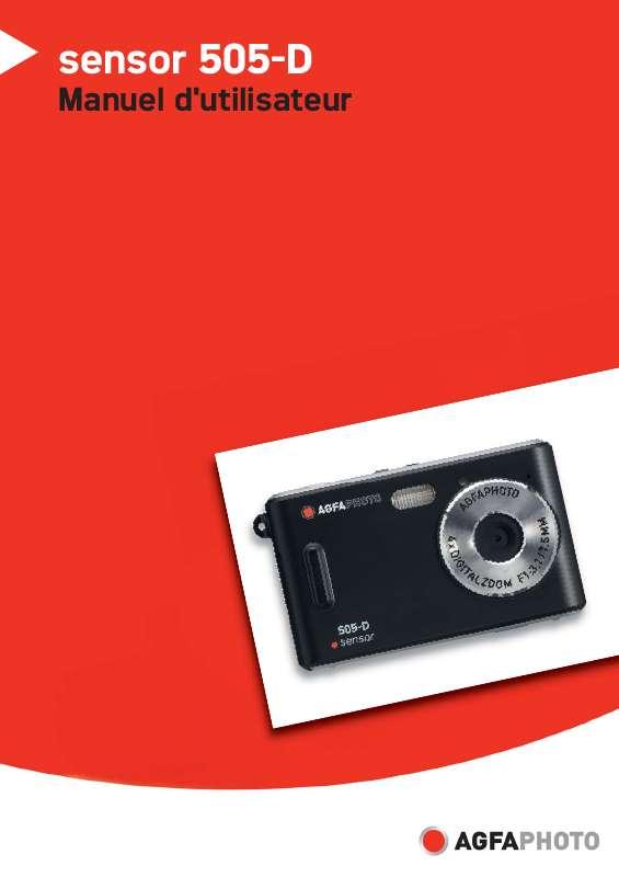 Guide utilisation  AGFAPHOTO SENSOR 505-D  de la marque AGFAPHOTO