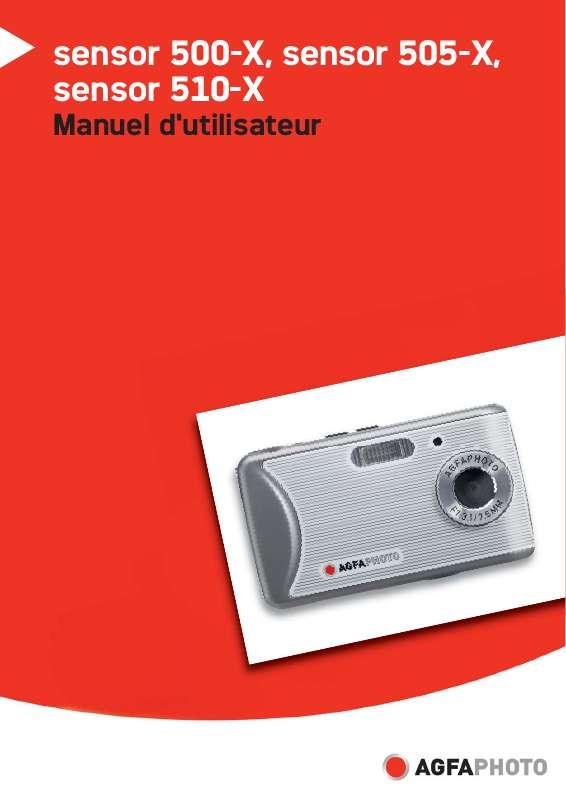 Guide utilisation  AGFAPHOTO SENSOR 510-X  de la marque AGFAPHOTO