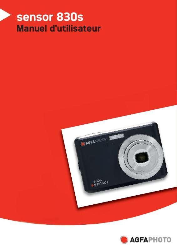 Guide utilisation  AGFAPHOTO SENSOR 830S_F  de la marque AGFAPHOTO