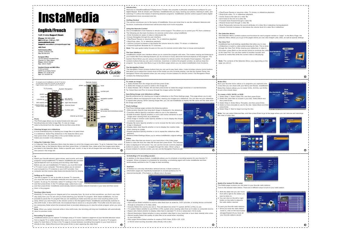 Guide utilisation  ADS TECH INSTAMEDIA  de la marque ADS TECH