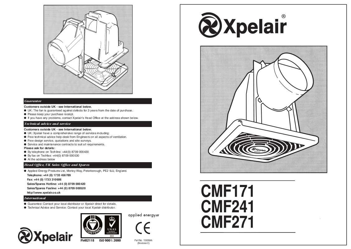 Guide utilisation  APPLIED ENERGY CMF 171  de la marque APPLIED ENERGY